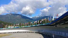 Course olympique de bobsleigh de Whistler Image stock
