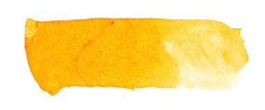 Course orange de brosse d'aquarelle tirée par la main Photographie stock