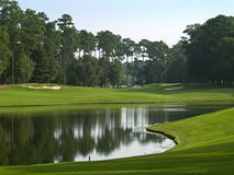 Course Pond. A beautiful pond on a Myrtle Beach golf course in South Carolina Royalty Free Stock Photos