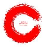 Course ronde de brosse d'encre rouge sur le fond blanc Illustrat de vecteur illustration libre de droits
