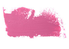 Course rose de rouge à lèvres de couleur sur le blanc pour le fond photographie stock libre de droits