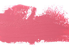 Course rose de rouge à lèvres de couleur sur le blanc pour le fond image libre de droits