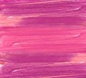 Course rose et pourpre de rouge à lèvres de couleur sur le blanc pour le fond photos stock
