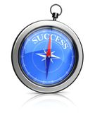 Course on success. 3d illustration of modern compass pointing to success Stock Images
