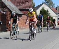 Course supérieure de vélo d'amateurs images stock