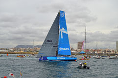 Course Team Vestas Wind Departs d'océan de Volvo Photo stock