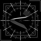 Course of time. Conceptual geometric background. Royalty Free Stock Photos