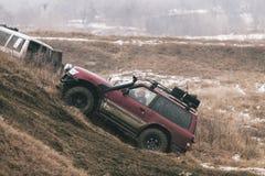 Course tous terrains - une patrouille dans l'action Photo stock