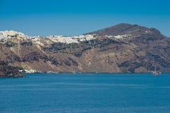 Course vers la Grèce Beau Santorini Photographie stock libre de droits