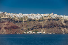 Course vers la Grèce Beau Santorini Images stock