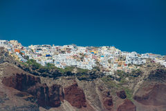 Course vers la Grèce Beau Santorini Photos stock