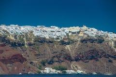 Course vers la Grèce Beau Santorini Image stock