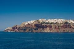 Course vers la Grèce Beau Santorini Images libres de droits