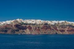 Course vers la Grèce Beau Santorini Image libre de droits