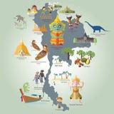 Course vers la Thaïlande Images stock