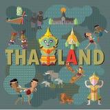 Course vers la Thaïlande Images libres de droits