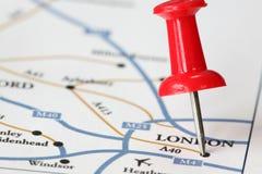 Course vers Londres Images libres de droits