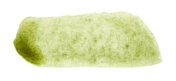 Course verte de brosse d'aquarelle tirée par la main Photo libre de droits