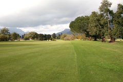 Courses. Golf Course in Stellenbosch in South Africa during the rainy season Royalty Free Stock Photography