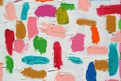 Courses acryliques colorées de brosse de couleur Photos libres de droits