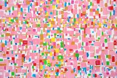 Courses acryliques colorées de brosse de couleur Image stock