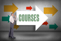 Courses against arrows pointing Royalty Free Stock Image