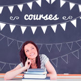 Courses against student thinking in classroom Stock Photography