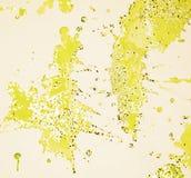 Courses aléatoires de scintillement phosphorescent jaune, fond cireux, conception créative Images libres de droits