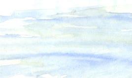 Courses bleues d'eau-couleur Fond Images libres de droits