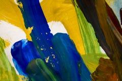 Courses colorées abstraites de brosse Images stock