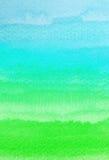 Courses colorées de brosse d'aquarelle Image libre de droits