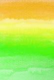 Courses colorées de brosse d'aquarelle Photos libres de droits