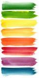 Courses colorées de brosse d'aquarelle Photographie stock libre de droits