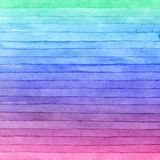 Courses colorées de brosse d'aquarelle, fond rayé Technique tirée par la main photo libre de droits