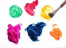 Courses colorées de brosse d'isolement Photographie stock
