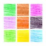 Courses colorées de brosse de cire Images libres de droits
