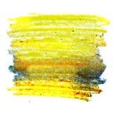 Courses colorées de brosse de cire Image libre de droits