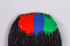 Courses colorées de brosse de peinture acrylique Photographie stock