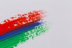 Courses colorées de brosse de peinture acrylique Photographie stock libre de droits