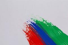 Courses colorées de brosse de peinture acrylique Image libre de droits