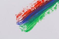 Courses colorées de brosse de peinture acrylique Photo libre de droits