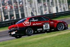 Courses d'automobiles, Alfa Romeo 156 (la FIA WTCC) Photo stock