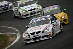 Courses d'automobiles, BMW 320si, Andy PRIAULX (WTCC) Photos stock