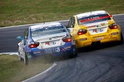 Courses d'automobiles (BMW 320si, FIA WTCC) Image libre de droits