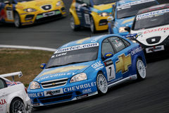 Courses d'automobiles, Chevrolet Lacetti (Nicola LARINI) Image stock