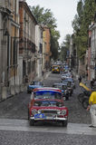 Courses d'automobiles classiques le Nuvolari Grand prix Photo stock