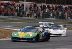 Courses d'automobiles (Corvette Z06, FIA GT) Images libres de droits