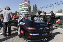 Courses d'automobiles de l'Italie de tasse de Porsche Carrera Photos libres de droits