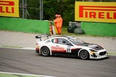 Courses d'automobiles de Maserati Trofeo MC GT4 à Monza Photo libre de droits
