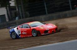 Courses d'automobiles (Ferrari F430, FIA GT) Photos libres de droits